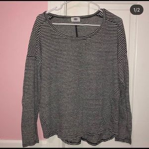 Old Navy black and white stripped long sleeve